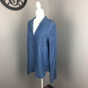 Velvet Heart denim button down tunic